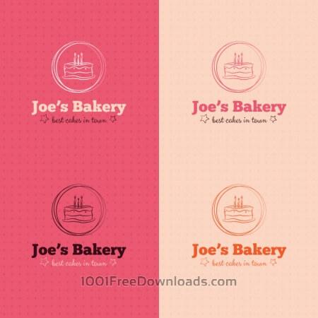 Bakery cake logo design