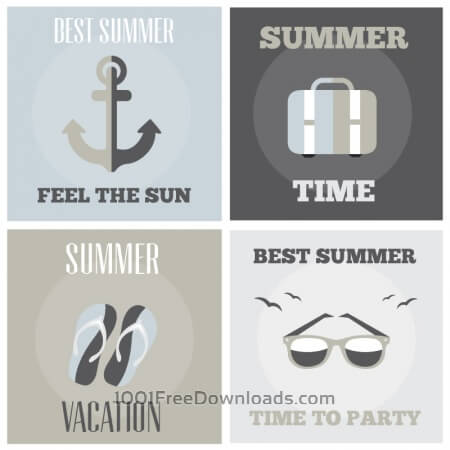 Summer posters set