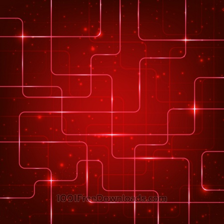 Abstract hi-tech red background