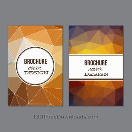 Set of modern cover brochures