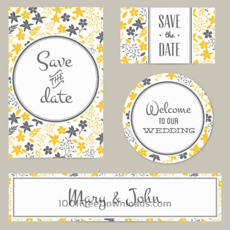 Floral wedding cover and card