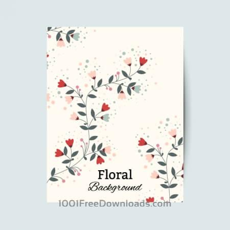 Floral vintage flyer