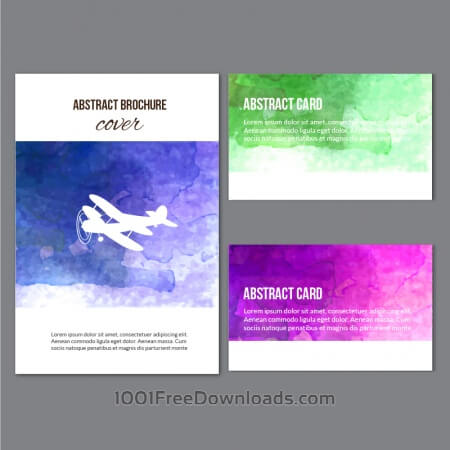 Watercolor  brochure and cards