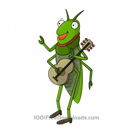 Cricket Playing Guitar
