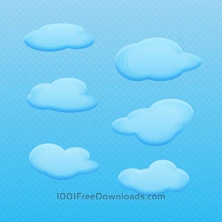 Vector Cartoon Clouds