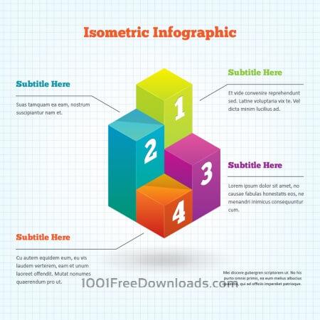 Free Isometric Infographic Element