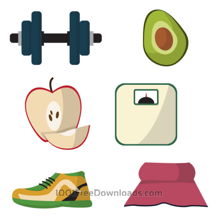 Healthy lifestyle diet vectors