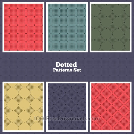 Vector Dotted Patterns Set