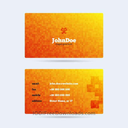 Free Pixel Monster Business Card