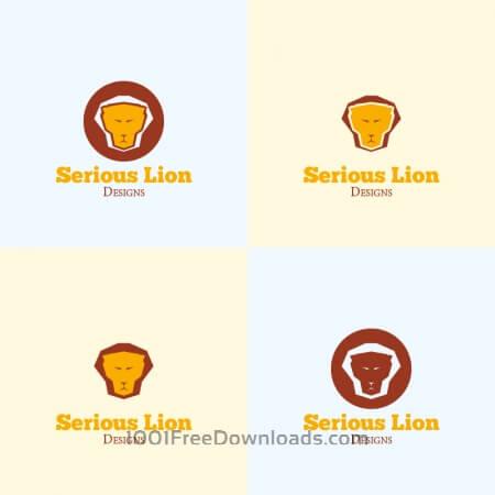 Lion Head Vector Logo