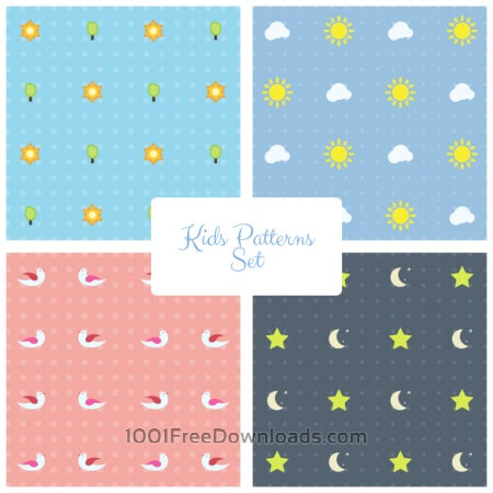 Kids Vector Patterns Set