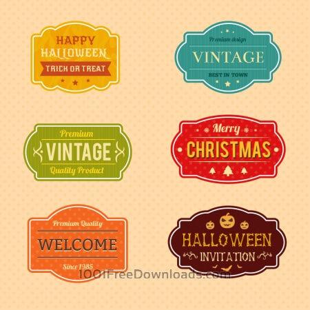 Holiday Vector Badges