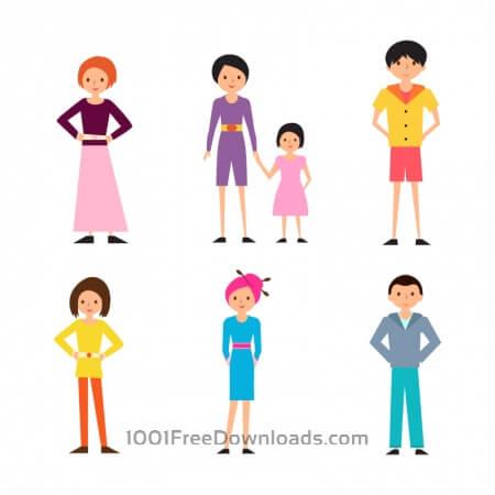 Cartoon People Vectors Set