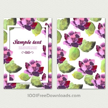 Watercolor cover with flowers