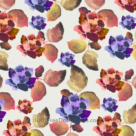 Watercolor background with vintage flowers