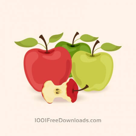 Vector illustration with apples