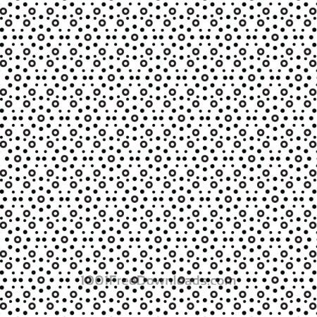 Circular Black and White Pattern