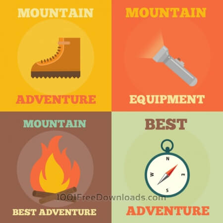 Mountain Adventure Icons