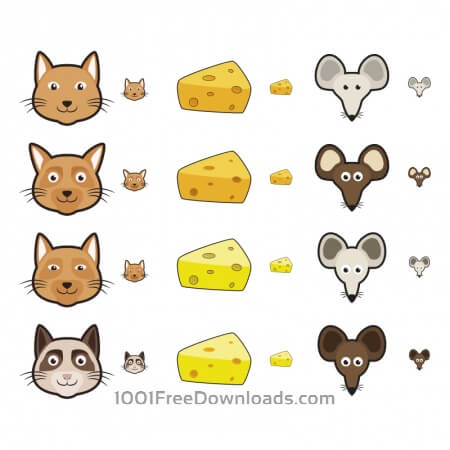 Free Cat and Mouse Icons