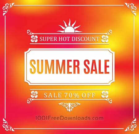 Summer sale abstract blur background.