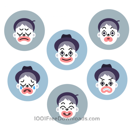 Mime emotion faces