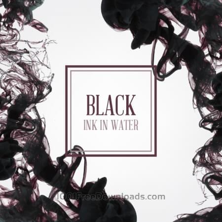 Black ink in water illustration