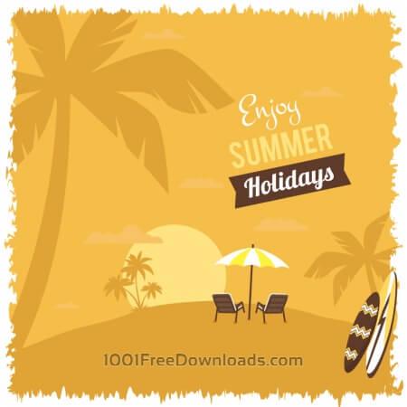 Free Summer beach illustration