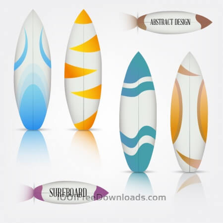 Colorful surfboards set