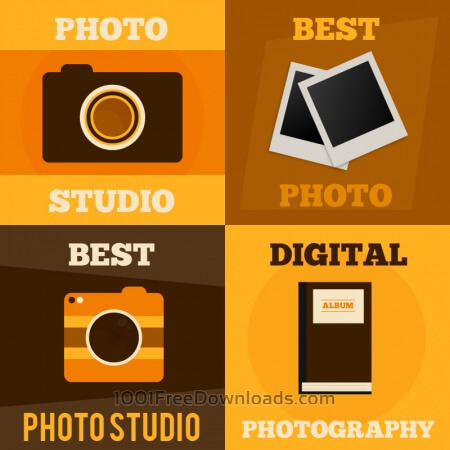 Photography vector posters