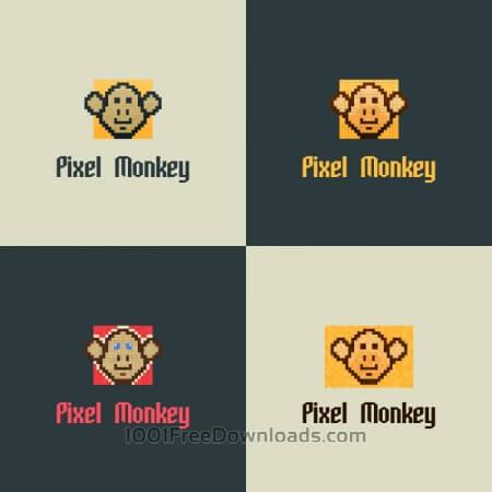 Pixel Monkey Vector Logo