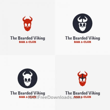 The Bearded Viking Vector Logo