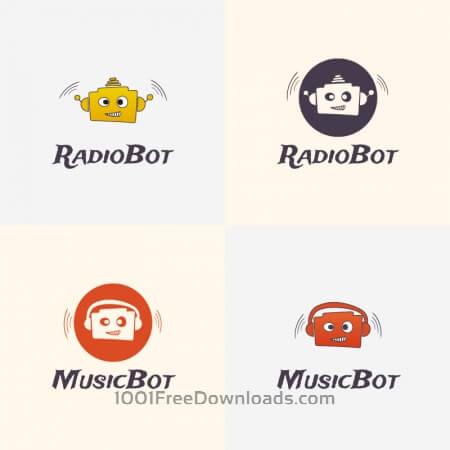 Radio Robot Vector Logo
