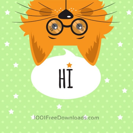 Cat with chat bubble vector illustration