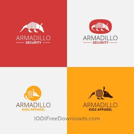Security armadillo logo design