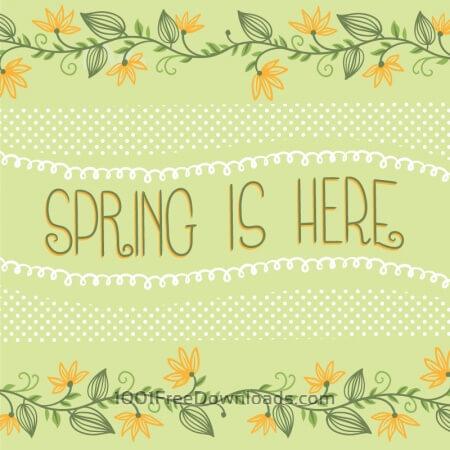 Free Spring floral  card