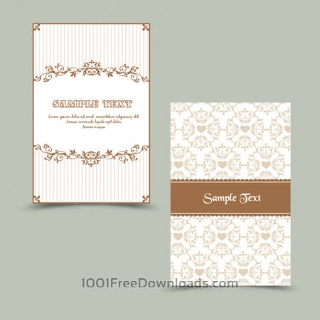 Invitation card with floral background
