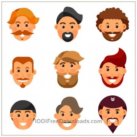 Bearded man avatars