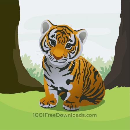 Free Cute tiger