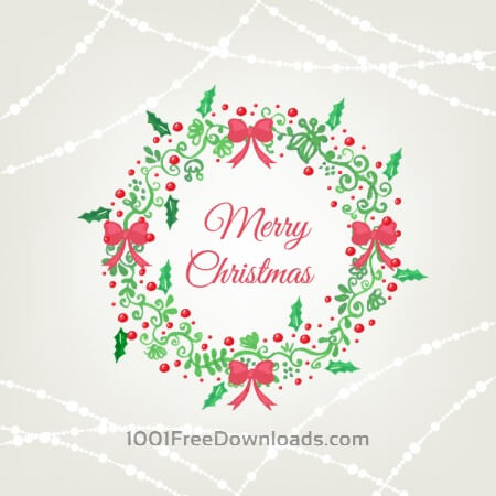 Christmas background with frame