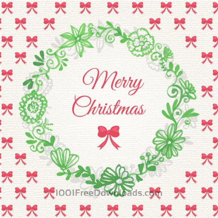 Christmas background with floral frame