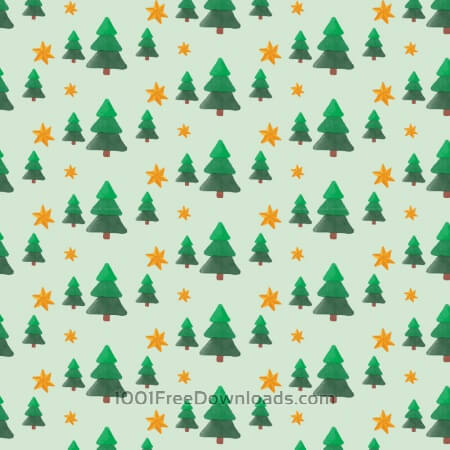 Christmas pattern with trees and stars