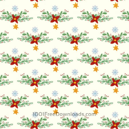 Christmas pattern with floral decoration