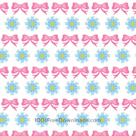 Floral pattern with bow