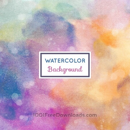 Watercolor background with frame