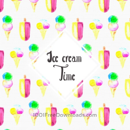 Watercolor Ice cream background