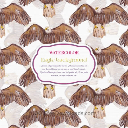 Watercolor eagle background