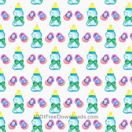 Watercolor baby shower pattern