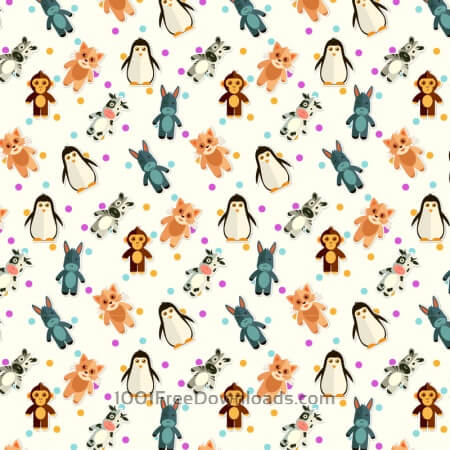 Free Pattern With Cute Animals