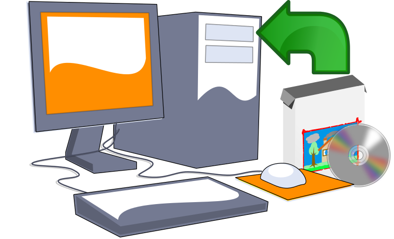 Free Clipart Install Computer Software Cd Objects