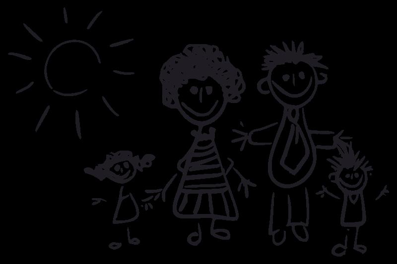 Libro Para Colorear Madre Hija Ilustraciones Vectoriales Clip: 1001FreeDownloads.com
